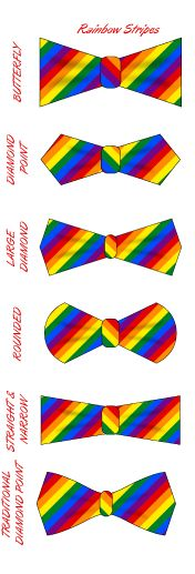 The Pride Collection - DIY Rainbow Stripes Bow Tie Kits from shop.Lavaguy.com.