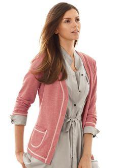 preppy fashion - Sailor Stripe Button Front Cardigan