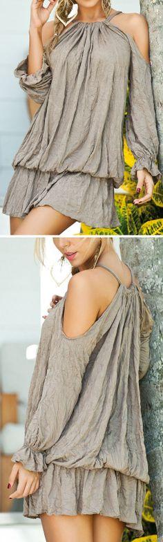 Cutout Blouson Dress ♥ L.O.V.E.