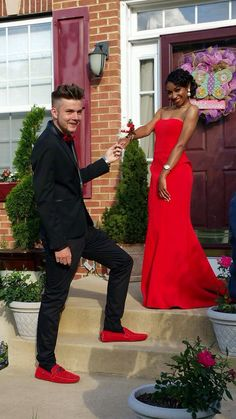 Red Prom Dress,Strapless Prom Dress,Fashion Prom Dress,Sexy Party Dress,Custom Made Evening Dress Biracial Couples, Interracial Couples, Interracial Wedding, Homecoming Pictures, Prom Photos, Prom Couples, Couples In Love, Mixed Couples, Strapless Prom Dresses
