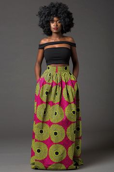 Maduo a ditshwantsho a african print high low skirts