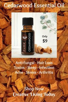 Cedarwood Essential Oil for Anti-fungal - Hair Loss - Toxins - Sleep - Infections - Acne - Stress - Chest Acne Fungal Infection Essential Oils For Face, Young Living Essential Oils, Hair Loss Treatment, Acne Treatment, Vitamins For Hair Loss, Natural Aloe Vera, Cedarwood Essential Oil, Body Acne, Prevent Hair Loss