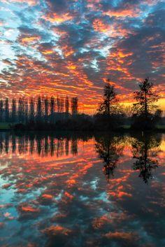 Sunset in Ferrara by Enrico Lapponi