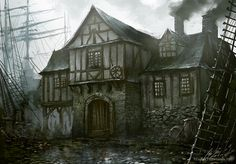 Leaping Fish Tavern by daRoz on deviantART Or...perhaps the Flaming Tart in Runoff, where Driev spends a great deal of his time.