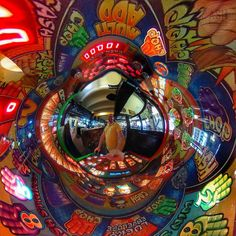 We have a winner!  #gambling #machine #tinyplanet #littleplanet #360view #lifein360 #360planet #360panorama #instalittleplanet #360camera #360photography #360 #360photo #sphere #travel #photosphere #360panorama #spherical #planet #snapshot #camerafun #exploring  #RicohTheta