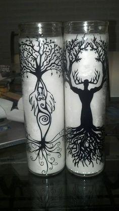 Tree God/Goddess Altar Candle Set by TwistedDragonStore on Etsy, $28.00