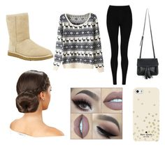 """""""lazy"""" by skyeacker9 on Polyvore featuring M&S Collection, UGG Australia, Chicnova Fashion and Kate Spade"""