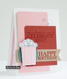 Celebrate You stamp set and Die-namics, Happy Birthday Background, Fishtail Flags STAX Die-namics, Stitched Circle STAX Die-namics - Inge Groot #mftstamps