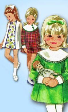 1960s Original Darlin Unused Toddlers A Line Dress Pattern Sz 3 | eBay