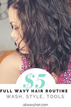"""I decided to see how my hair would react to a $5 complete hair routine. Why? It's easy to get pulled into an expensive wavy hair routine. Many """"good"""" products are over $20 per item. Unfortunately, that mentality causes us wavies to overlook some itemsRead More"""