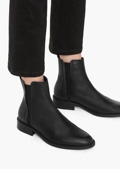 Leather ankle boots - Women