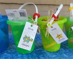 Favors at an Under the Sea Party #underthesea #partyfavors