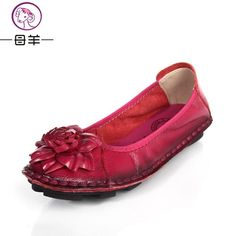 Hand-sewn Leather Flats Shoes