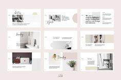 Kymila PowerPoint Brand Template by bilmaw creative on creativemarket Microsoft Powerpoint 2007, Infographic Powerpoint, Websites Like Etsy, Design Typography, Photoshop, Branding, Creative Powerpoint, Brand Guidelines, Presentation Templates