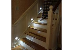 Motion Activated Lights on stairs - awesome.