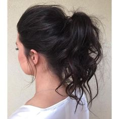 30 Eye-Catching Ways to Style Curly and Wavy Ponytails ❤ liked on Polyvore featuring beauty products, haircare, hair styling tools and curly hair care