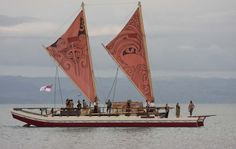 """Te Matau A Maui""  based on traditional Maori Waka (boat/canoe) what a wonderful way to learn and experience both past and present Maori navigational expertise, beliefs and values ,  moored in Ahuriri Napier"