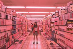 girls in grocery stores//video aisles Aesthetic Photo, Pink Aesthetic, Vaporwave, Neon Rose, Looks Cool, Portrait, Belle Photo, Overwatch, Vintage Modern