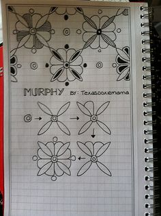 Drawing Doodles Ideas Murphy~Zentangle - This is my version of a tile in a building on campus where I work. Doodles Zentangles, Tangle Doodle, Tangle Art, Zentangle Drawings, Zen Doodle, Doodle Drawings, Doodle Art, Graph Paper Drawings, Mandala Doodle