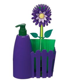 shut the front door, that is adorable! Take a look at this Plum Flower Garden Countertop Caddy Set by Boston Warehouse on #zulily today!