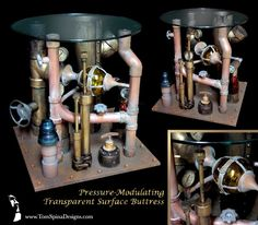 Steampunk Pipe Table is awesome!