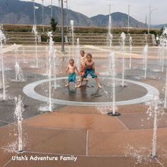 Spanish Fork, Lion Mask, Splash Pad, Like A Lion, Water Features, Be Perfect, Playground, Garden Design, Natural