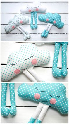 DIY Cute Cloud Pillow - FREE Sewing Pattern / Tutorial