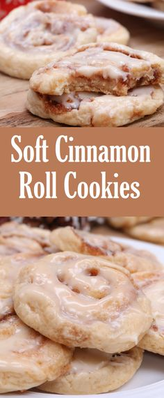Soft Cinnamon Roll Cookies - Try these at the Holiday party! Chocolate Cookie Recipes, Easy Cookie Recipes, Peanut Butter Cookie Recipe, Fun Baking Recipes, Cinnamon Roll Cookies, Cinnamon Rolls, Cinnamon Cookie Recipe, Soft Cookie Recipe, Holiday Baking