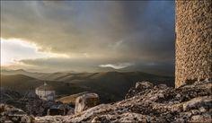 Last Light of a Cloudy Sunset - Rocca Calascio Abruzzo Italy   ©Carla Boogaard