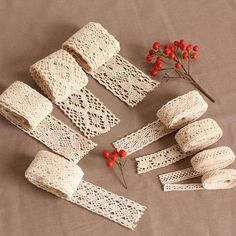 [EBay] Freeshipping 10Yard/Lot Random Cotton Lace Fabric/Clothing Materials Textiles Lace Diy