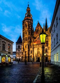 St. Elizabeth Cathedral, Košice, Slovakia Big Ben, Cathedral, Saints, Excercise, Street, City, World, Journaling, Buildings