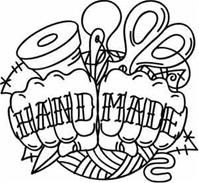 Nice embroidery patterns, lots of crafty, punk.
