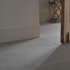 Carrelagefine épaisseur Easy4 en cérame pleine masse, gris clair, 60 x 60 cm