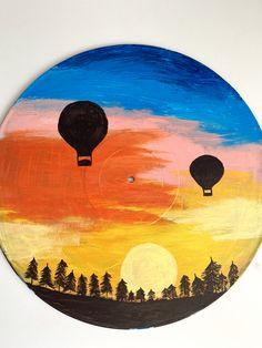 Record Wall Art, Cd Wall Art, Cd Art, Cute Canvas Paintings, Small Canvas Art, Mini Canvas Art, Vinyl Art, Art Drawings, Decoration