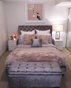 Pink and gray bedroom pink room decor blush pink bedroom decor best pink and grey bedroom ideas designing home - unbelievable Interior inspiration. Pink And Grey Bedroom Ideas Dream Bedroom, Home Bedroom, Queen Bedroom, Bedroom Office, Female Bedroom, Bedroom 2018, Bedroom Interiors, Beautiful Bedrooms, My New Room