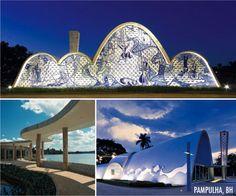 Complexo da Pampulha, Belo Horizonte. Projeto de Oscar Niemeyer, Jardim Burle Marx e painéis de Portinari