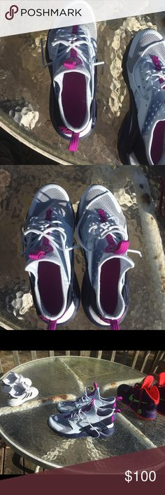 Huraches Nike Huraches Nike purple pink blue new wore twice reallly comfortable selling to pay daughters tuition tru to size 6 Nike Shoes Athletic Shoes