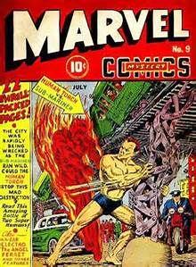 Marvel Mystery Comics - The Human Torch Vs. the Sub-Mariner (Issue) Rare Comic Books, Comic Book Artists, Comic Book Covers, Comic Books Art, Old Comics, Vintage Comics, Most Expensive Comics, Hq Marvel, Captain Marvel