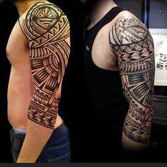 Nice Aztec tribal tattoo