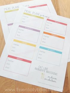 FREE Printable Meal Planner | www.EssentiallyEclectic.com