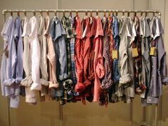Like this idea for displaying men's shirts.