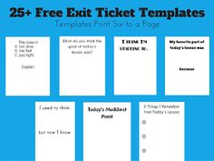Free Template for Tickets Luxury Math = Love Free Exit Ticket Templates Persuasive Writing, Writing Rubrics, Paragraph Writing, Opinion Writing, Art Rubric, Exit Tickets, Exit Ticket Template, Eureka Math, Math Workshop