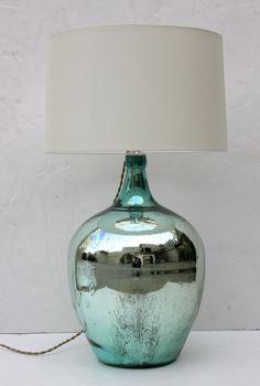 mercury 1940's glass lamp