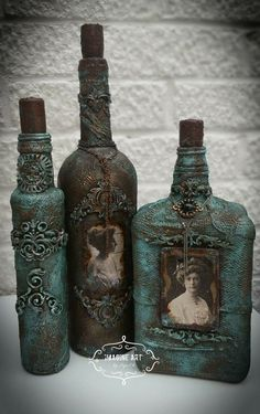 Hunting for mauve bottle crafts?, this round over has you covered from Home made eye-glasses to definitely elegant cheddar dairy product trays. Glass Bottle Crafts, Wine Bottle Art, Diy Bottle, Decorative Glass Bottles, Bottle Lamps, Altered Bottles, Vintage Bottles, Bottles And Jars, Halloween Potion Bottles