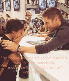 A lot of people look to other celebrities for inspiration or their quotes but for 20 years I have been listening to Jensen Ackles. People think he's just some hot guy from Supernatural, but to me he's an inspiration. (Photo found on Pinterest) I just edited it and added a quote from Jensen ackles.