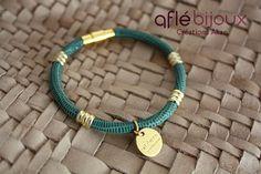 African Bracelet Aflé Bijoux Teal Leather Bracelet  by AFLEBijoux, €35.00  #aflebijoux #cuir #etsy