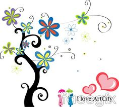 Vector flower tree trees leaves the living world
