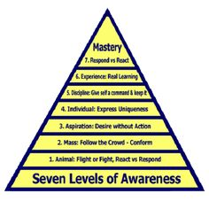 He also provides an explanation of the 7 Levels of Awareness that helps you see what adjustments you need to make to your thinking process to get the results you most want in life. Spiritual Enlightenment, Spiritual Awakening, Spirituality, Subconscious Mind Power, Spiritual Psychology, Science Words, Level Of Awareness, Self Actualization, Levels Of Consciousness