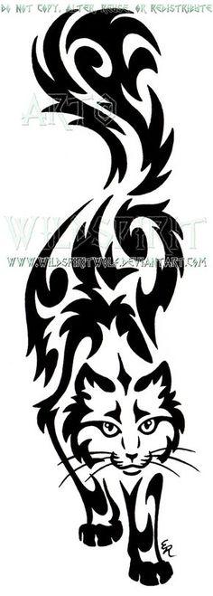 Prowling Sherlock Cat Tribal Design by WildSpiritWolf.deviantart.com on @DeviantArt