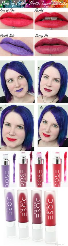 Dose of Colors Matte Liquid Lipsticks Review!  #doseofcolors #vegan #beauty #lipstick